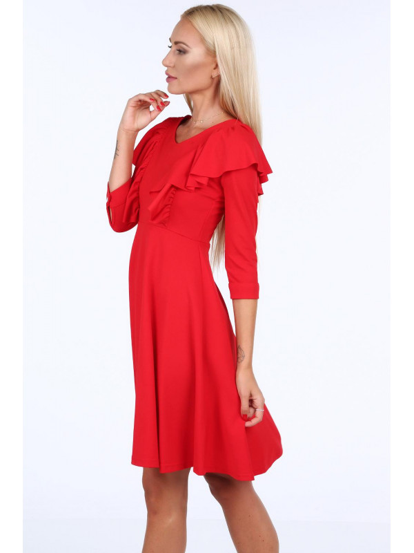 bbb23723a7b8 Dámske šaty s volánmi 1818