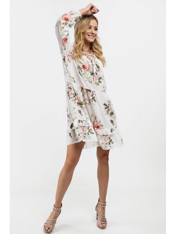 a77ce52878b0 Dámske voľné šaty s volánmi 6772