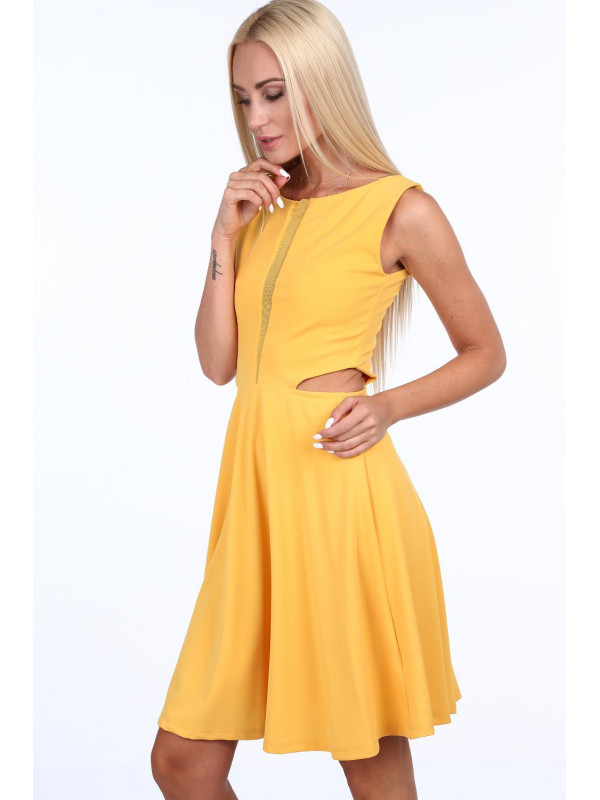 70c29d9c209a Dámske žlté šaty 1781 - Spoločenské šaty krátke - Locca.sk