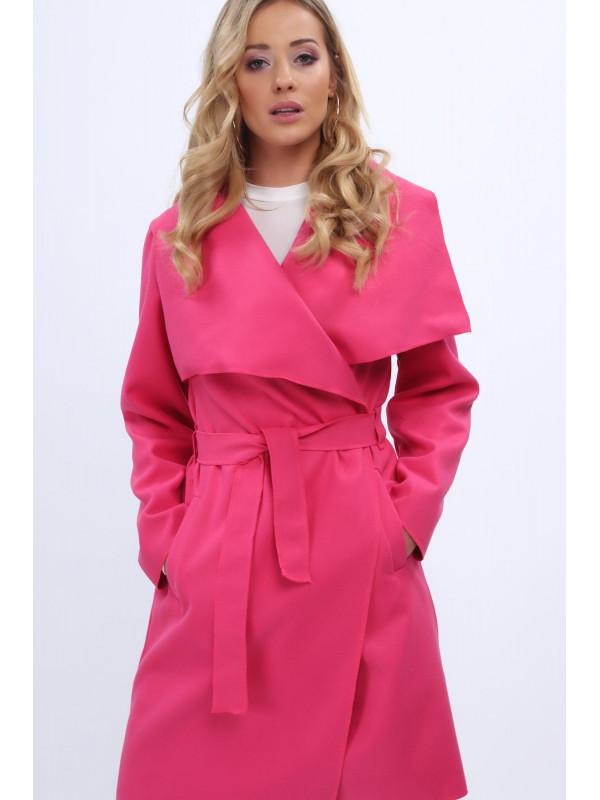 fd4aac1e1 Dámsky prechodný kabát 1742, tmavo ružový - Dámske bundy - Locca.sk