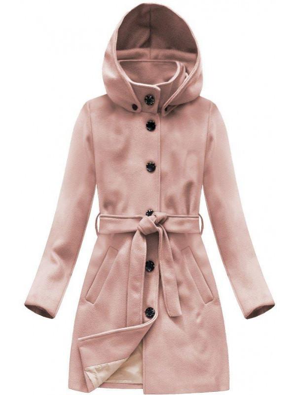 629a7151d133 Dámsky vlnený prechodný kabát s kapucňou 6798