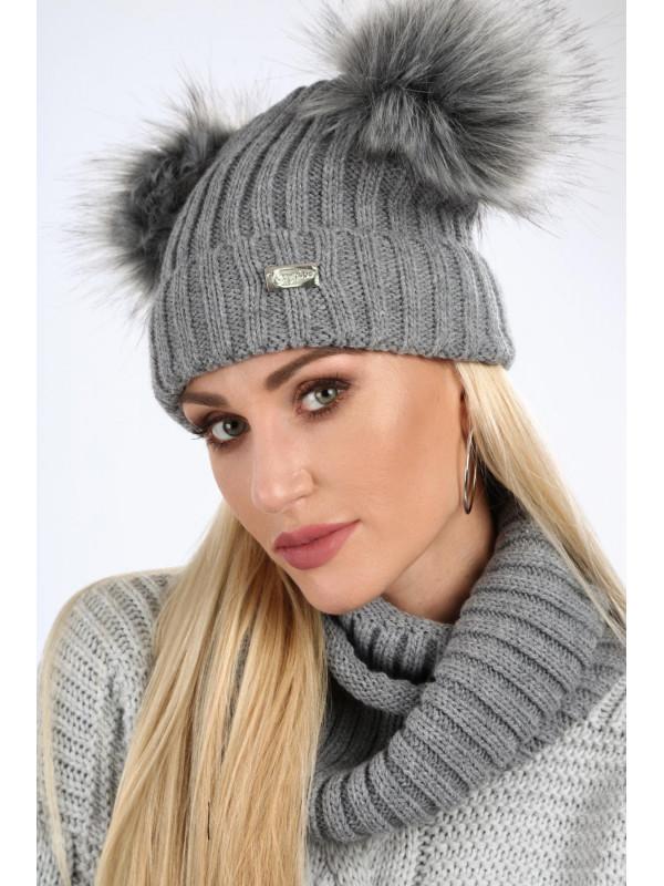 515d593d4592 Dámsky zimný set čiapka + šál C18