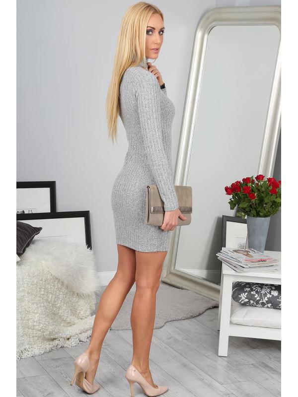 855f2172f2bf Elegantné sivé šaty - Dámske elegantné šaty - Locca.sk