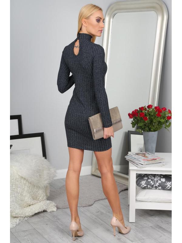 8683d53d1da7 Elegantné tmavomodré šaty - Dámske elegantné šaty - Locca.sk