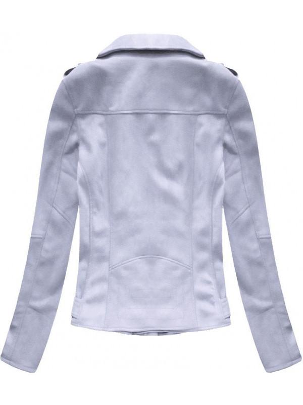 Fialová semišová dámska bunda 6006 - Dámske bundy - Locca.sk ec72667657e