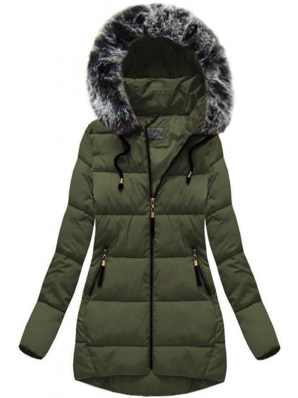 Khaki dámska zimná bunda B1026-30 - Dámske bundy - Locca.sk acf2027a444