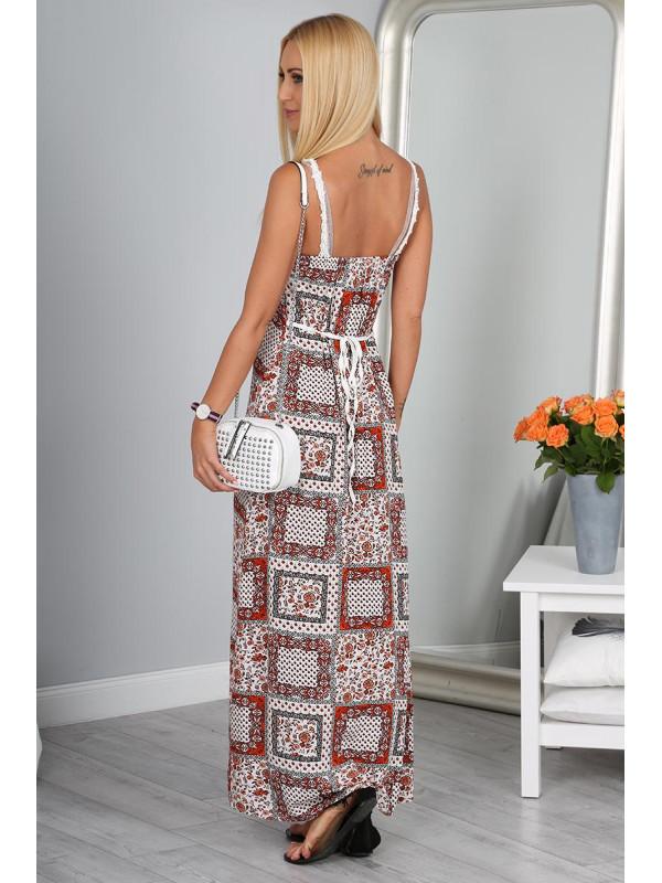 Letné vzorované dlhé šaty - Dámske dlhé šaty - Locca.sk 0ddf6aa6507
