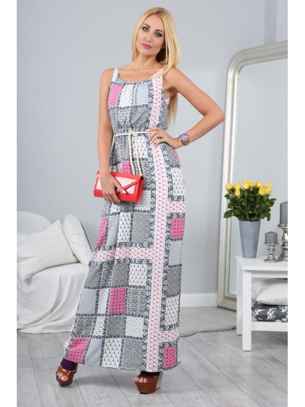 Maxi šaty s viazaním na páse - Dámske ležérne šaty - Locca.sk f05c76e31fb