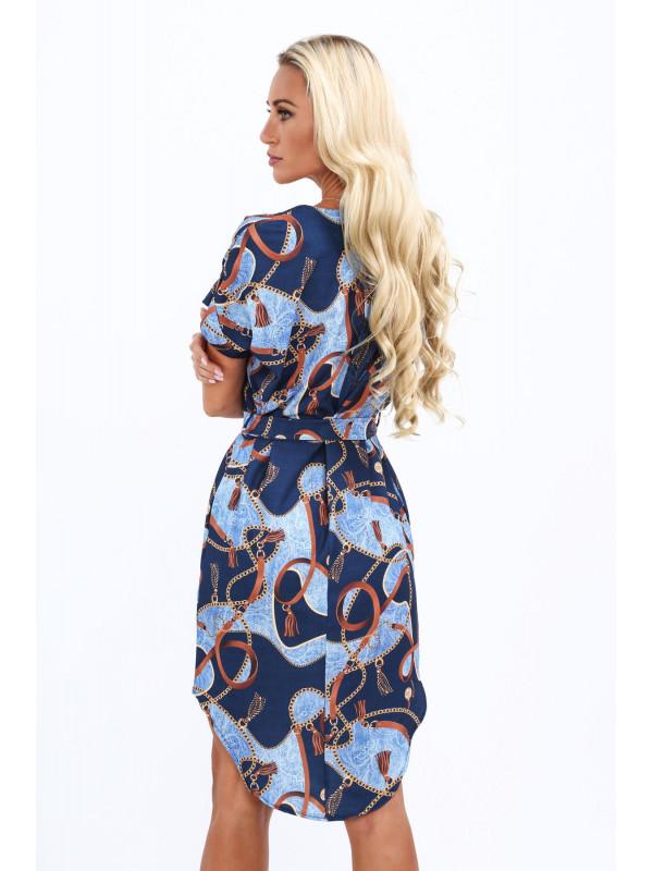 34692b81d544 Modré dámske elegantné šaty 20610 - Dámske letné šaty - Locca.sk