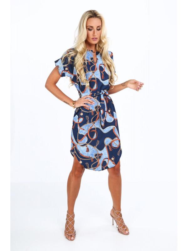 d8ff643bcb01 Modré dámske elegantné šaty 20610 - Dámske letné šaty - Locca.sk
