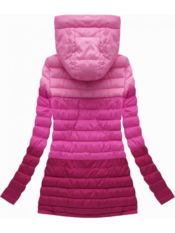 Prechodná bunda ombre ružová (W618) - Dámske jarné bundy - Locca.sk 47ca0f5135