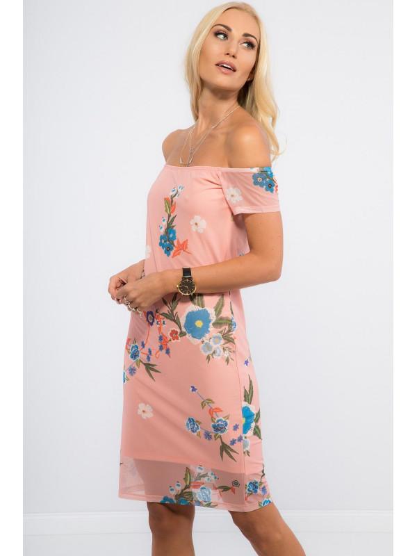 Pudrové šifónové šaty TA6123 - Dámske letné šaty - Locca.sk 0c82d8ddc3a