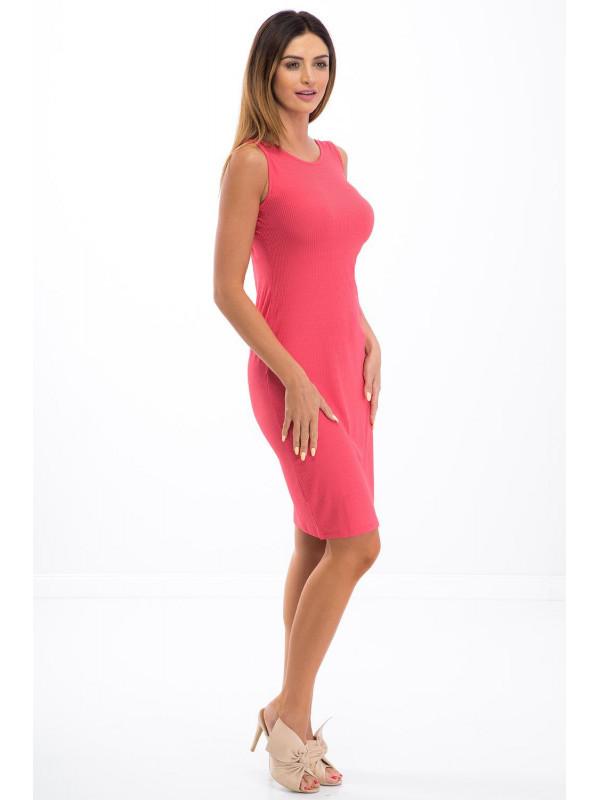 ae4d7f466e1e Ružové šaty na ramienka 3555 - Spoločenské šaty krátke - Locca.sk