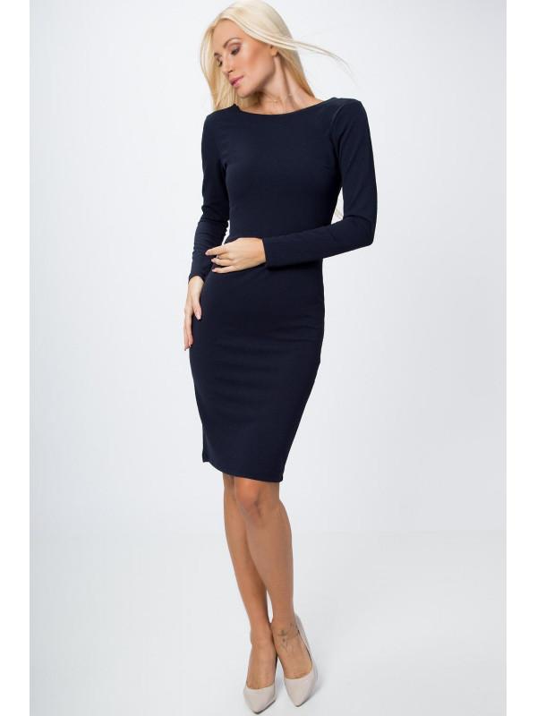 97e86ea720e8 Šaty so zlatým zipsom tmavo modré - Spoločenské šaty krátke - Locca.sk