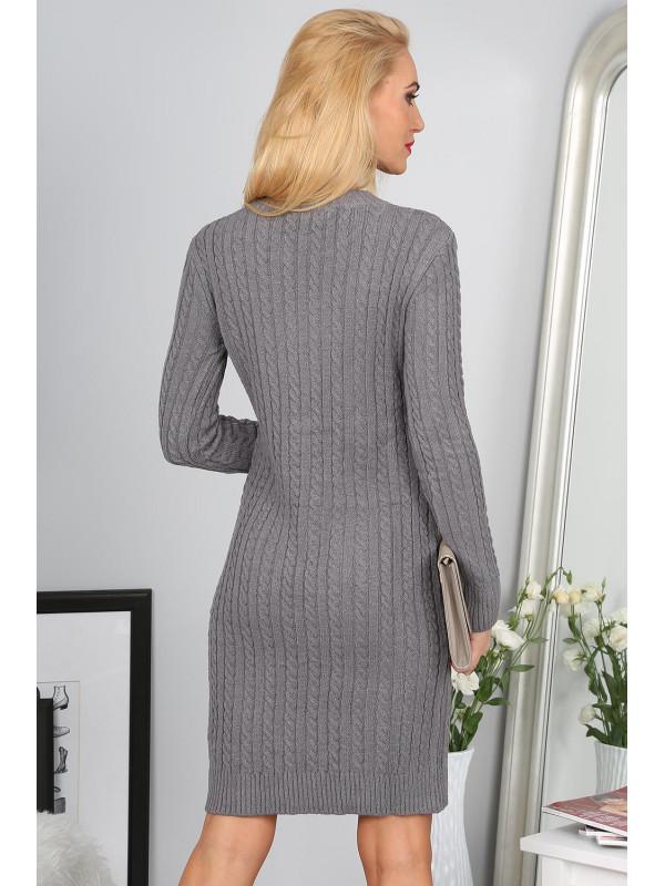 0091def195d6 Sivé úpletové šaty - Dámske ležérne šaty - Locca.sk