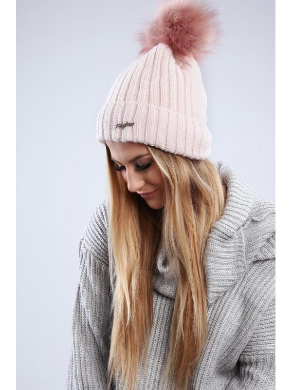 e1f425d83 Svetlo ružová dámska čiapka C1 - Dámske čiapky - Locca.sk