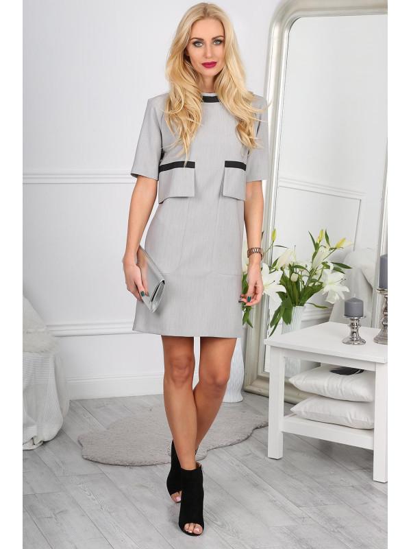 Svetlo šedé šaty 0011 - Dámske elegantné šaty - Locca.sk a1d19d02cdd