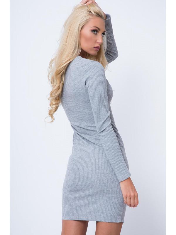 Svetlo šedé šaty 16050 - Dámske elegantné šaty - Locca.sk 39dba238aa4
