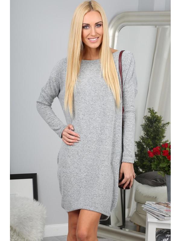 Svetlo šedé šaty - Dámske ležérne šaty - Locca.sk 62d3abc18af