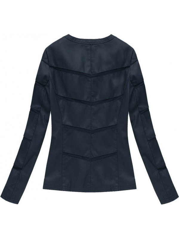 Tmavo modrá kožená bunda 5260 - Dámske bundy - Locca.sk e27644aed93