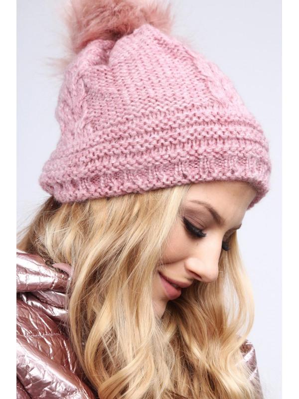 800c671ba Tmavo ružová dámska čiapka C10 - Dámske čiapky - Locca.sk