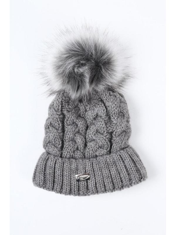 0dbb2ba30 Tmavo sivá dámska zimná čiapka C25 - Dámske čiapky - Locca.sk