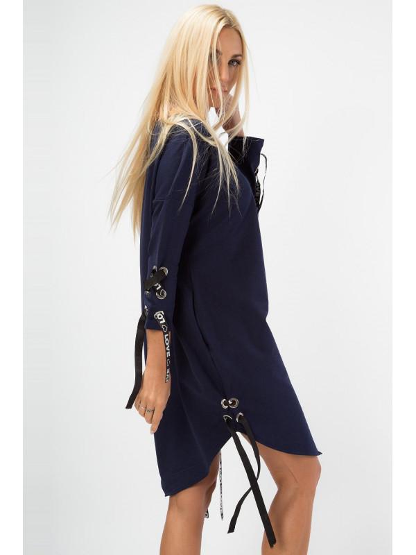 Tmavomodré šaty 1403 - Dámske ležérne šaty - Locca.sk 4c99ee4caa1