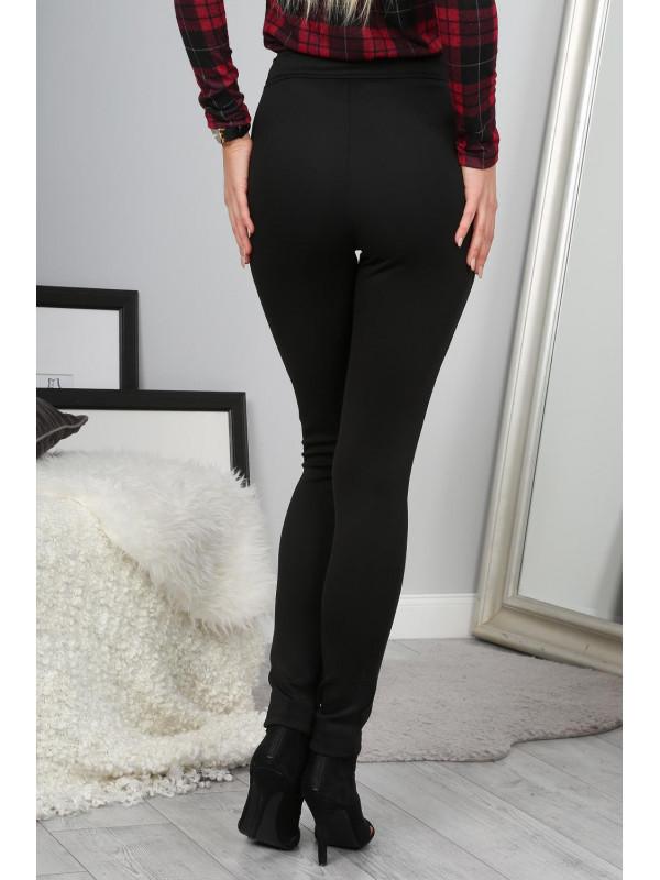 16f58eb3c95a Dámske elastické nohavice · Trendy čierné nohavice s gombíkmi. Trendy  čierné nohavice s gombíkmi  1