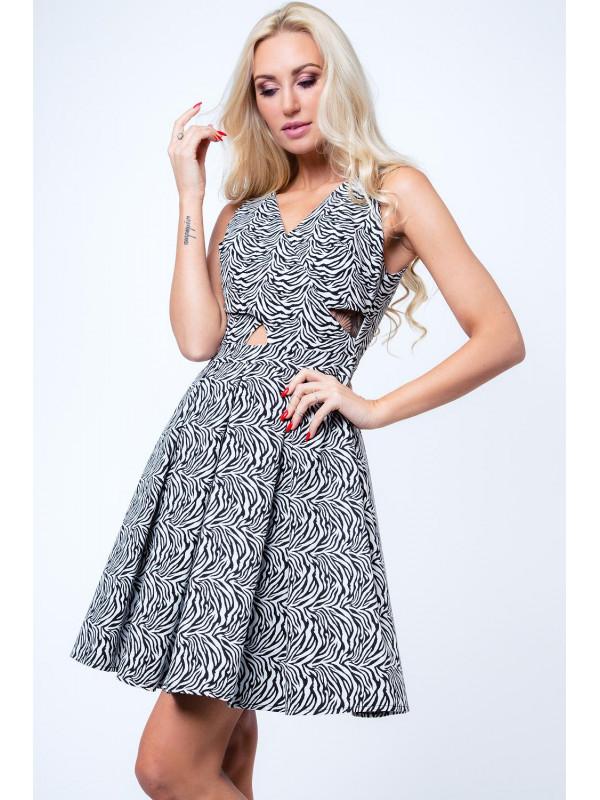Vzorované rozšírené šaty 08b924a842e