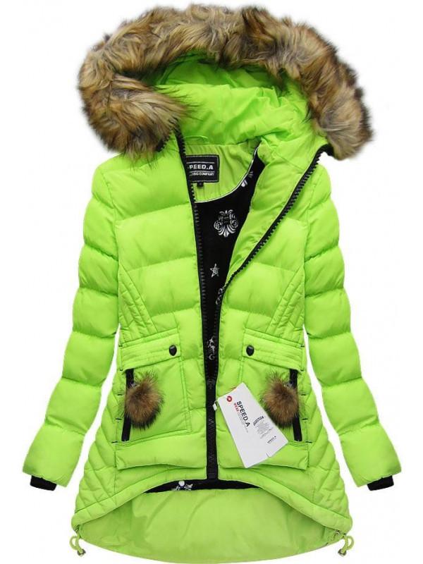 Zelená zimná bunda (W811) - Dámske bundy - Locca.sk 7e78edd76b1