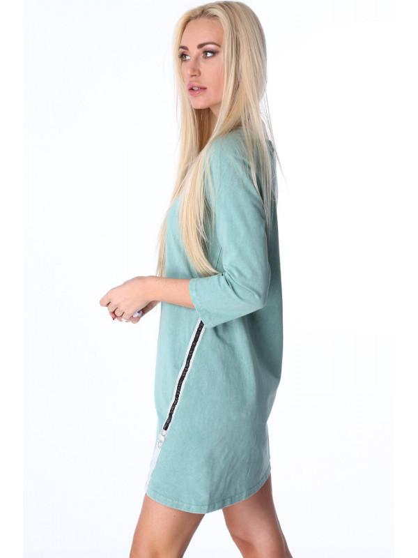 358fdb7d7a2f Zelené dámske šaty 3778 - Dámske športové šaty - Locca.sk