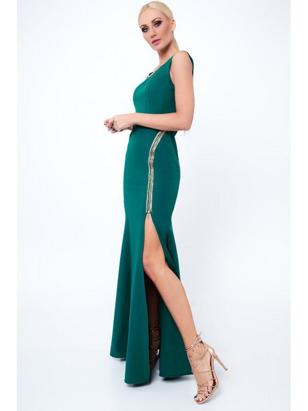 Zelené šaty s holým chrbtom G5048 - Spoločenské šaty krátke - Locca.sk 5606038eb2