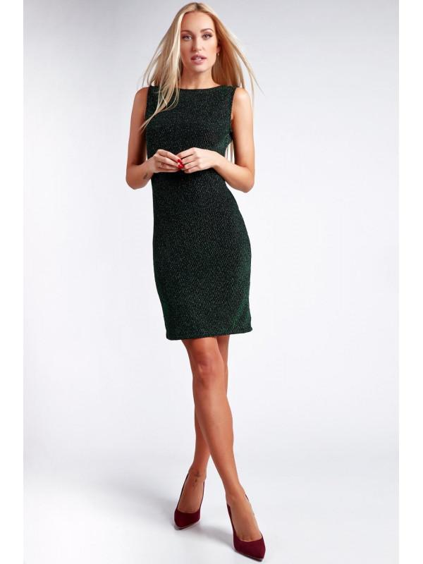59ca5f72a61b Zelené šaty s odhaleným chrbtom 9475 - Spoločenské šaty krátke ...