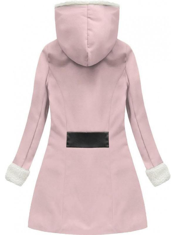 3ac0ee4196 Zimný kabát ružový 68ART vyp - Dámske kabáty - Locca.sk
