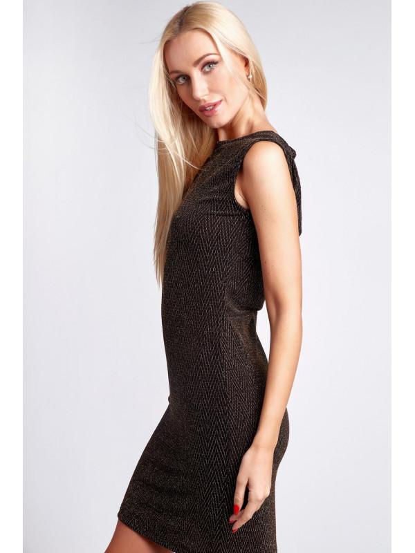 Zlaté šaty s odhaleným chrbtom 9475 - Spoločenské šaty krátke - Locca.sk 69611c7767