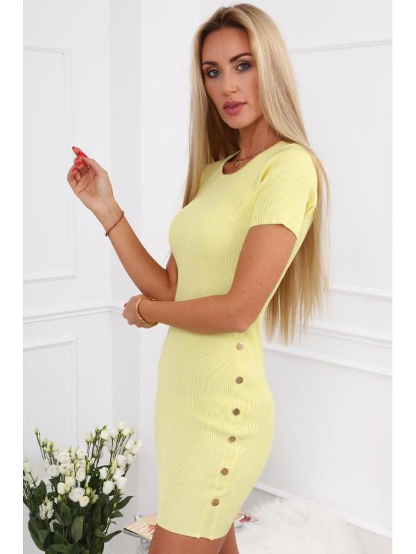 7dfbfa8c2 Žlté dámske šaty 08147 - Mini šaty - Locca.sk