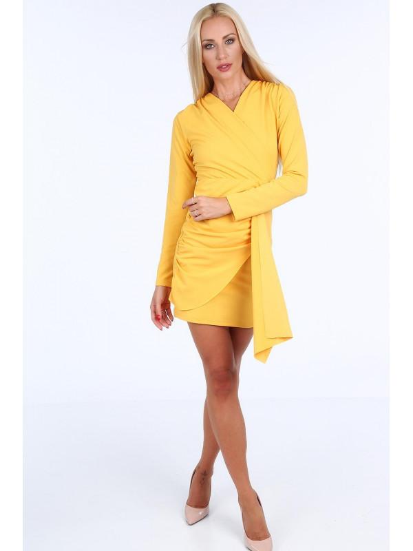 Žlté dámske šaty 1817 - Spoločenské šaty krátke - Locca.sk 73747485f80