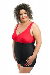 Dámske jednodielne plavky 1023 black-red