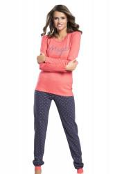 Dámske pyžamo Alezja raspberry