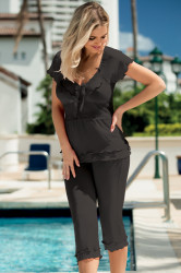 Dámske pyžamo Tania black