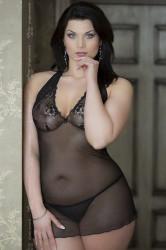 Erotická košieľka   Marylin plus black