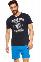 Pánske pyžamo 37121 Justice dark blue