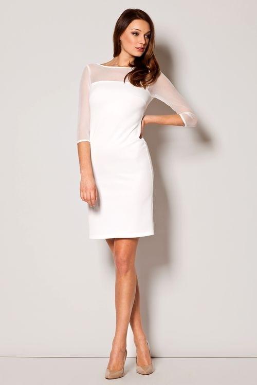 Dámske oblečenie M237 ecru - Mini šaty - Locca.sk 1a193b92711