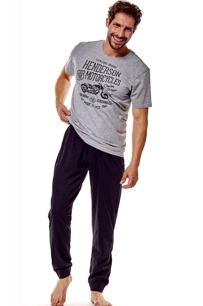 744ada6102d7 Pánske pyžamo 36204 Force 90x graphite - Pánske pyžamá - Locca.sk