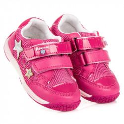 Úžasné ružové dievčenské tenisky s hviezdičkami