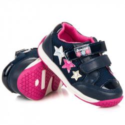 Úžasné modré dievčenské tenisky s hviezdičkami