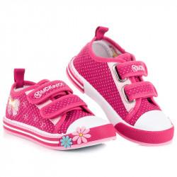 Úchvatné ružové dievčenské tenisky na suchý zips