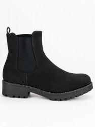 Casualové čierne členkové topánky - Dámske topánky - Locca.sk cf4d941808a