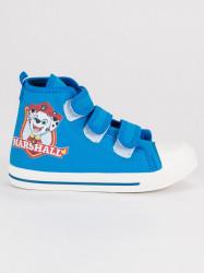 Chlapčenské modré členkové topánky Tlapková patrola