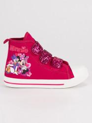 Detské ružové tenisky na suchý zips Mickey Mouse